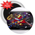 Love-Hurts-Tattoo-Chrome-Belt-Buckle 3  Magnet (10 pack)