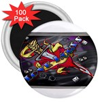 Love-Hurts-Tattoo-Chrome-Belt-Buckle 3  Magnet (100 pack)