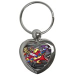 Love-Hurts-Tattoo-Chrome-Belt-Buckle Key Chain (Heart)