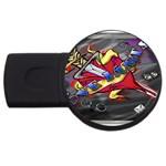 Love-Hurts-Tattoo-Chrome-Belt-Buckle USB Flash Drive Round (2 GB)