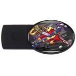 Love-Hurts-Tattoo-Chrome-Belt-Buckle USB Flash Drive Oval (2 GB)