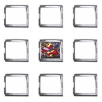 Love-Hurts-Tattoo-Chrome-Belt-Buckle Mega Link Italian Charm (9 pack)