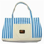 Love-Hurts-Tattoo-Chrome-Belt-Buckle Striped Blue Tote Bag