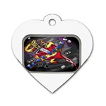 Love-Hurts-Tattoo-Chrome-Belt-Buckle Dog Tag Heart (Two Sides)