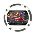 Love-Hurts-Tattoo-Chrome-Belt-Buckle Poker Chip Card Guard (10 pack)