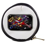 Love-Hurts-Tattoo-Chrome-Belt-Buckle Mini Makeup Bag