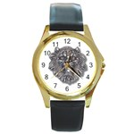 LARK60 Round Gold Metal Watch