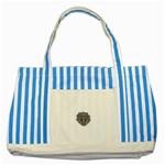 LARK60 Striped Blue Tote Bag