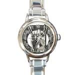 31035 Round Italian Charm Watch