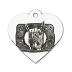 31035 Dog Tag Heart (One Side)