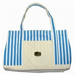 BuckleA139 Striped Blue Tote Bag