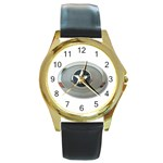 BuckleA270 Round Gold Metal Watch