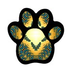 Subway_sign Magnet (Paw Print)