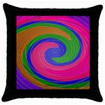 Magic_Colors_Twist_Soft-137298 Throw Pillow Case (Black)
