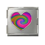 Magic_Colors_Twist_Soft-137298 Mega Link Heart Italian Charm (18mm)