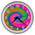 Magic_Colors_Twist_Soft-137298 Wall Clock (Silver)