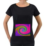 Magic_Colors_Twist_Soft-137298 Maternity Black T-Shirt