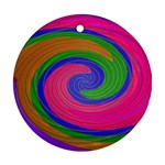 Magic_Colors_Twist_Soft-137298 Round Ornament (Two Sides)