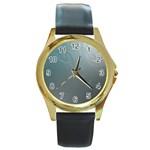 asja Round Gold Metal Watch
