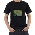 bird_15 Black T-Shirt (Two Sides)