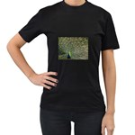 bird_15 Women s Black T-Shirt (Two Sides)