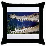 Croc Throw Pillow Case (Black)