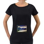 Croc Maternity Black T-Shirt