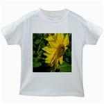 flowers_30 Kids White T-Shirt