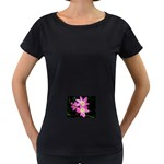 landat_01 Maternity Black T-Shirt
