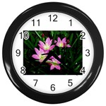 landat_02 Wall Clock (Black)