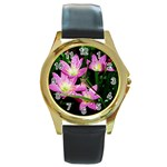landat_02 Round Gold Metal Watch