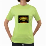 wallpaper_12492 Women s Green T-Shirt