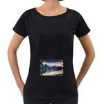 Croc Maternity Black T-Shirt