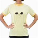 Eyes2 Women s Fitted Ringer T-Shirt