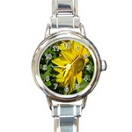 flowers_30 Round Italian Charm Watch
