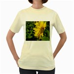 flowers_30 Women s Yellow T-Shirt
