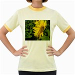 flowers_30 Women s Fitted Ringer T-Shirt