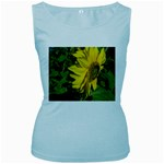 flowers_30 Women s Baby Blue Tank Top
