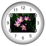 landat_02 Wall Clock (Silver)