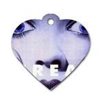 scream_5 Dog Tag Heart (One Side)