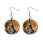 tiger_4 1  Button Earrings
