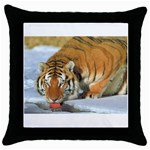 tiger_4 Throw Pillow Case (Black)