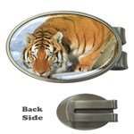 tiger_4 Money Clip (Oval)