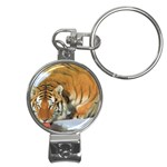 tiger_4 Nail Clippers Key Chain