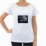 wallpaper_9813 Maternity White T-Shirt