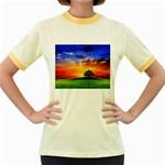 wallpaper_10251 Women s Fitted Ringer T-Shirt