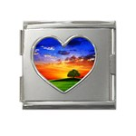 wallpaper_10251 Mega Link Heart Italian Charm (18mm)