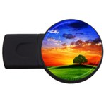 wallpaper_10251 USB Flash Drive Round (1 GB)