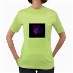 wallpaper_12178 Women s Green T-Shirt