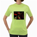 wallpaper_12280 Women s Green T-Shirt